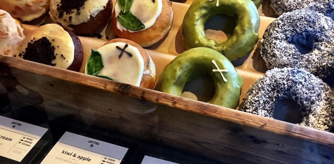 Fresh sourdough gourmet doughnuts by Crosstown Doughnuts